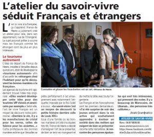 Nouvelles de Versailles - Atelier du savoir-vivre